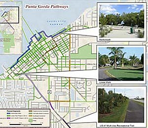 Map of Punta Gorda Bicycle Paths