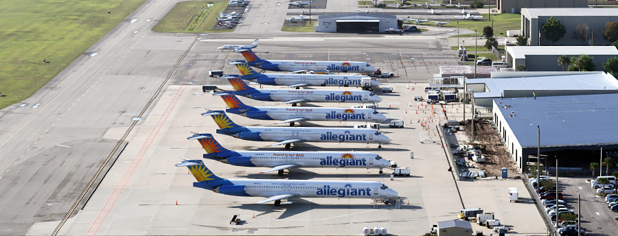 Picture of Allegiant airplanes and Punta Gorda Municipal Airport