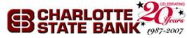 Charlotte State Bank - 20 Year Anniversary