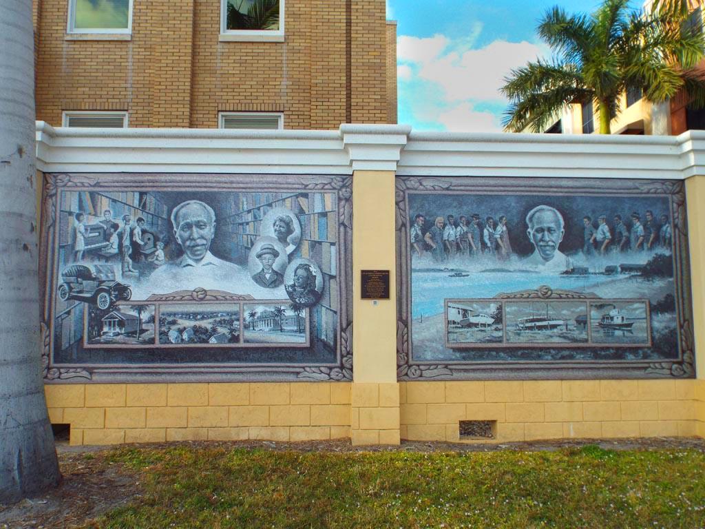Mural Life and Times of George Brown, Punta Gorda FL