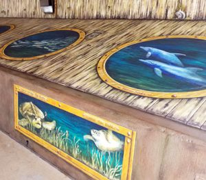 Tails-from-the-Harbor, Punta Gorda mural