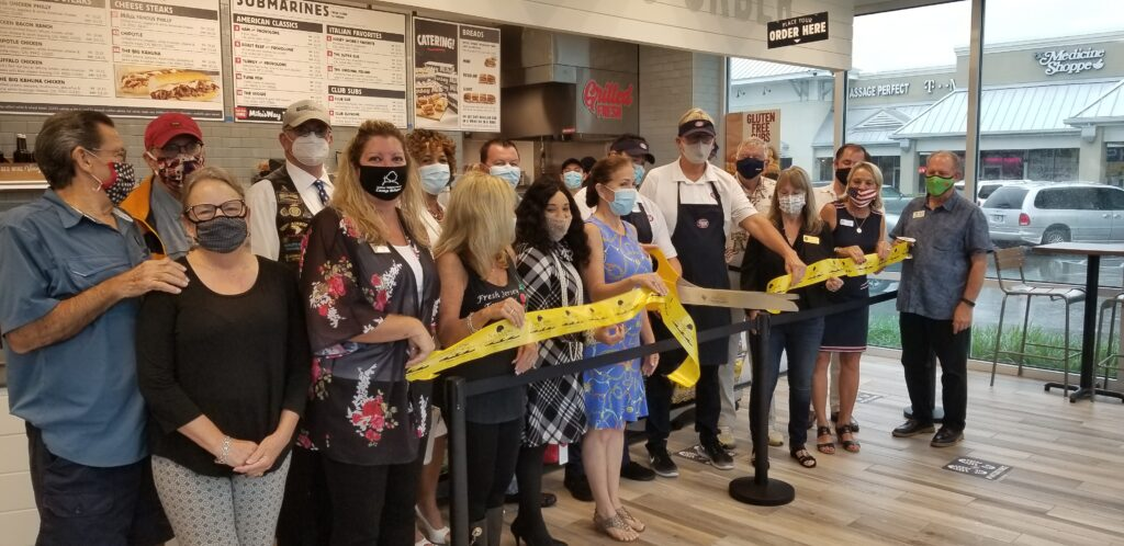 Ribbon cutting at Jersey Mike's