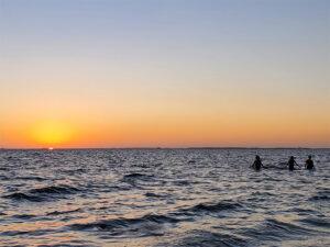 Sunset over Charlotte Harbor from Ponce de Leon Park, Punta Gorda FL
