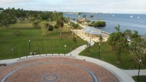 Arial View of the Harbor Walk at Gilchrest facing West